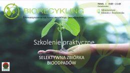 Prezentacje do pobrania – Szkolenie praktyczne – selektywna zbiórka bioodpadów